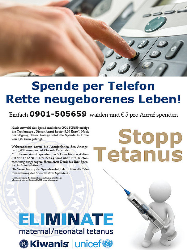 Spendenaktion via Telefon